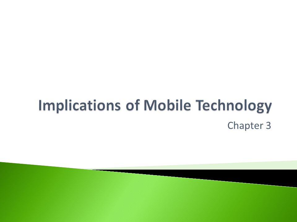 Help you understand how to answer open ended questions which could be asked of you in the exam in relation to the implications of mobile technology.
