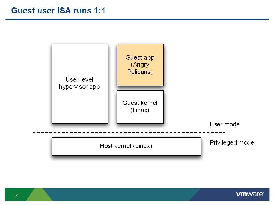 12 Guest user ISA runs 1:1