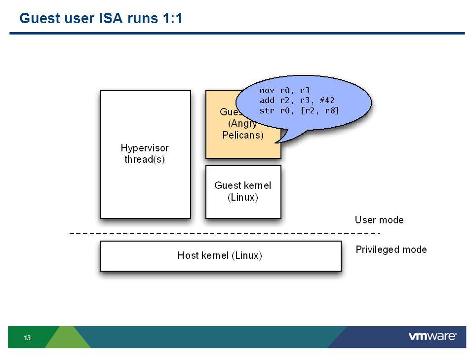 13 Guest user ISA runs 1:1