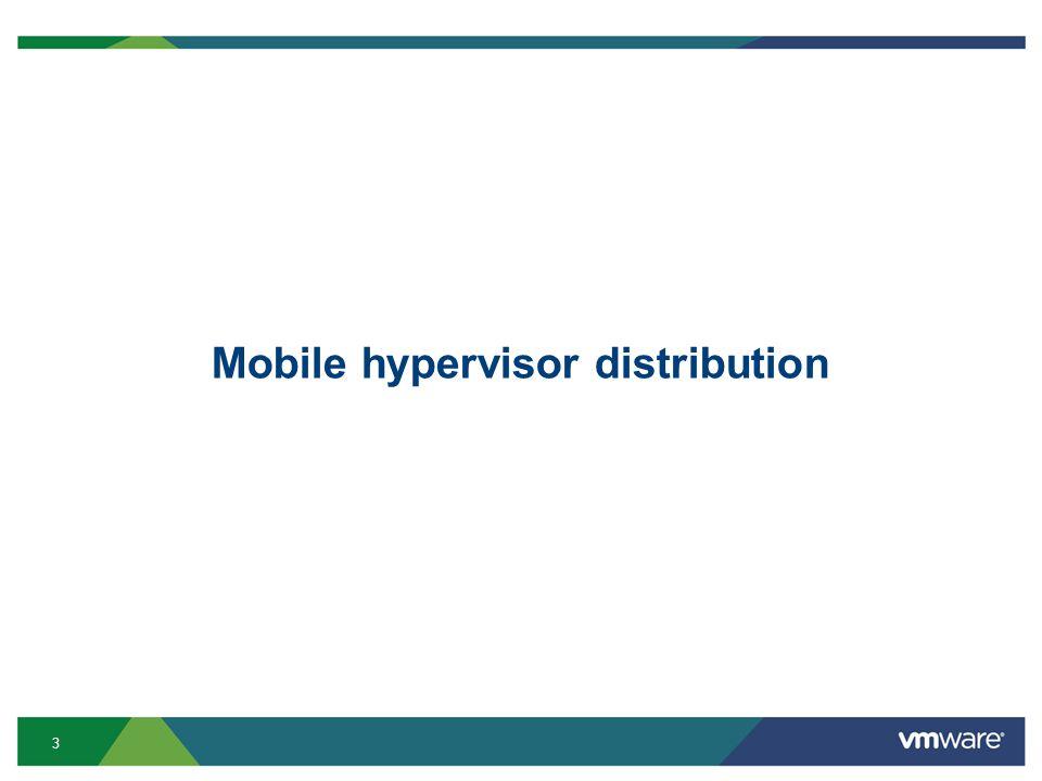 3 Mobile hypervisor distribution