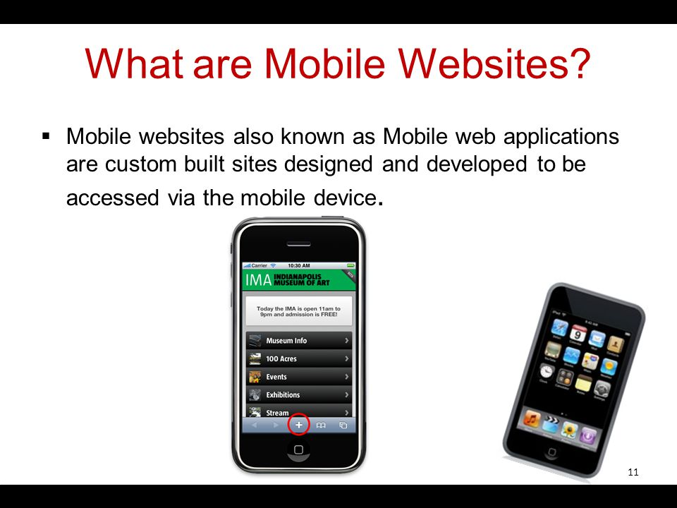 What are Mobile Websites.