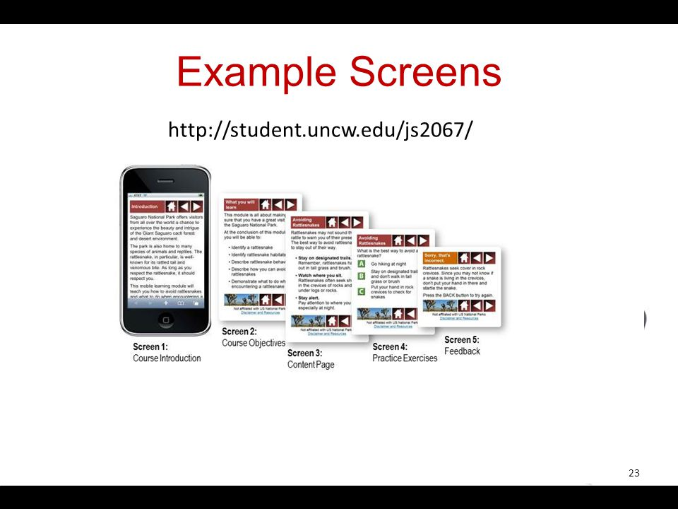 Example Screens 23 http://student.uncw.edu/js2067/