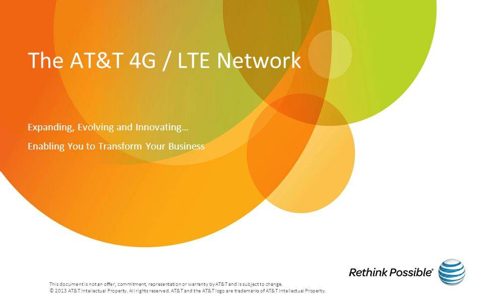 This document is not an offer, commitment, representation or warranty by AT&T and is subject to change.