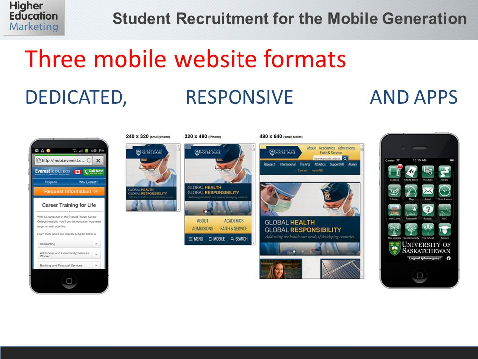 Student Recruitment for the Mobile Generation Text messaging