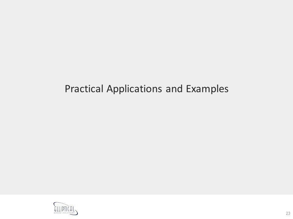 Practical Applications and Examples 23