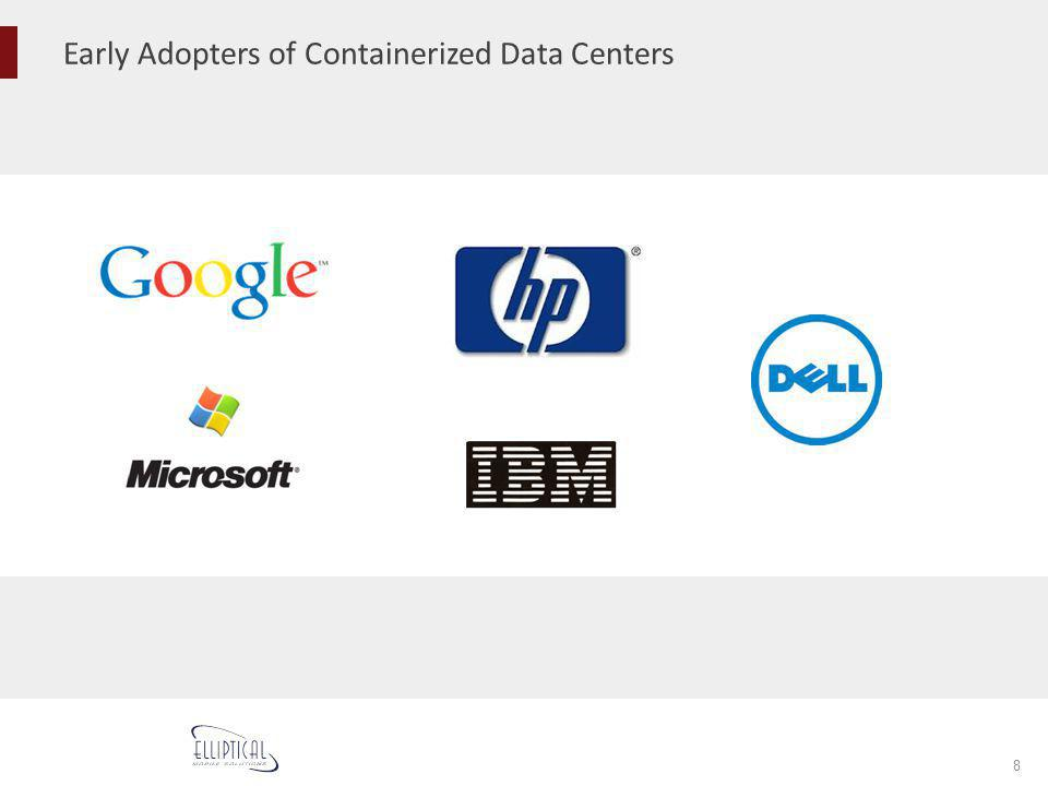 Early Adopters of Containerized Data Centers 8