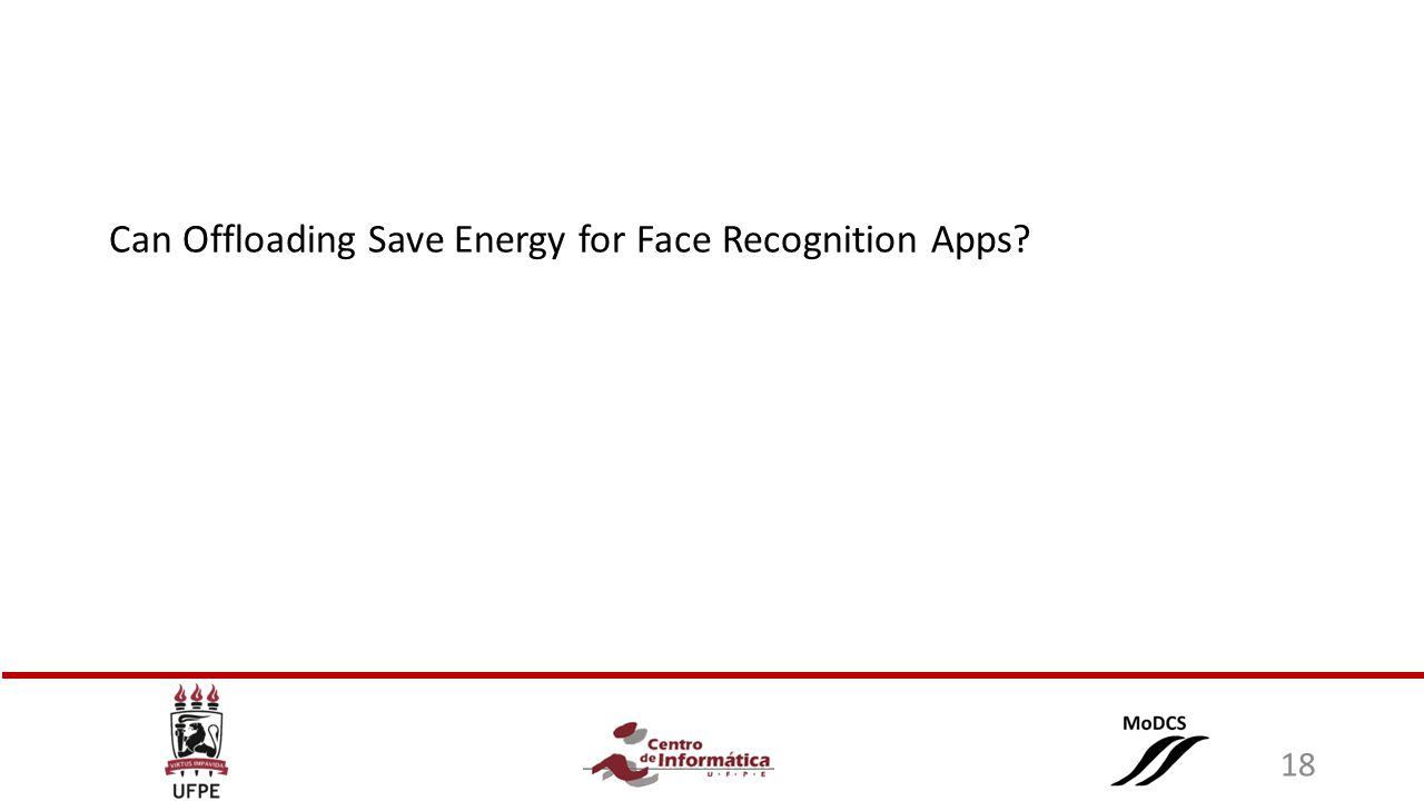 Can Offloading Save Energy for Face Recognition Apps 18