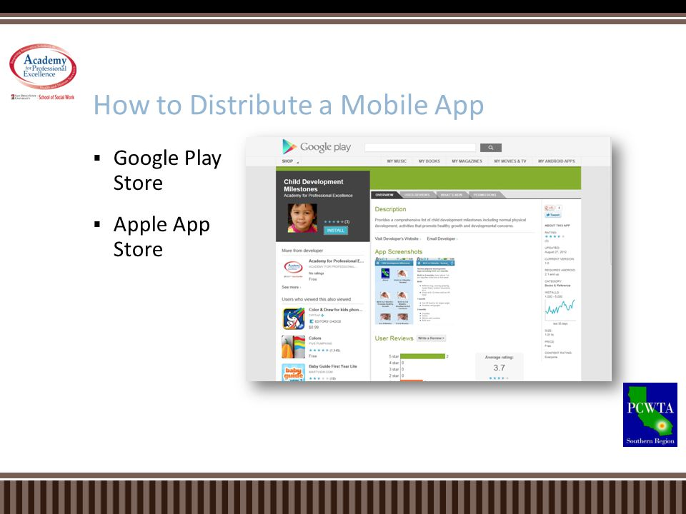 Google Play Store Apple App Store How to Distribute a Mobile App