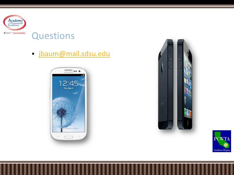 jbaum@mail.sdsu.edu Questions