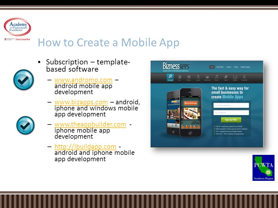 Subscription – template- based software – www.andromo.com – android mobile app development www.andromo.com – www.bizapps.com – android, iphone and win