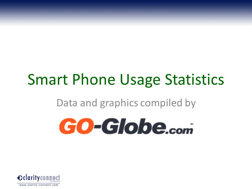 Smart Phone Usage Statistics Data and graphics compiled by