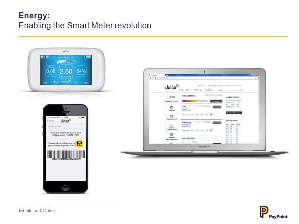 Energy: Enabling the Smart Meter revolution Mobile and Online