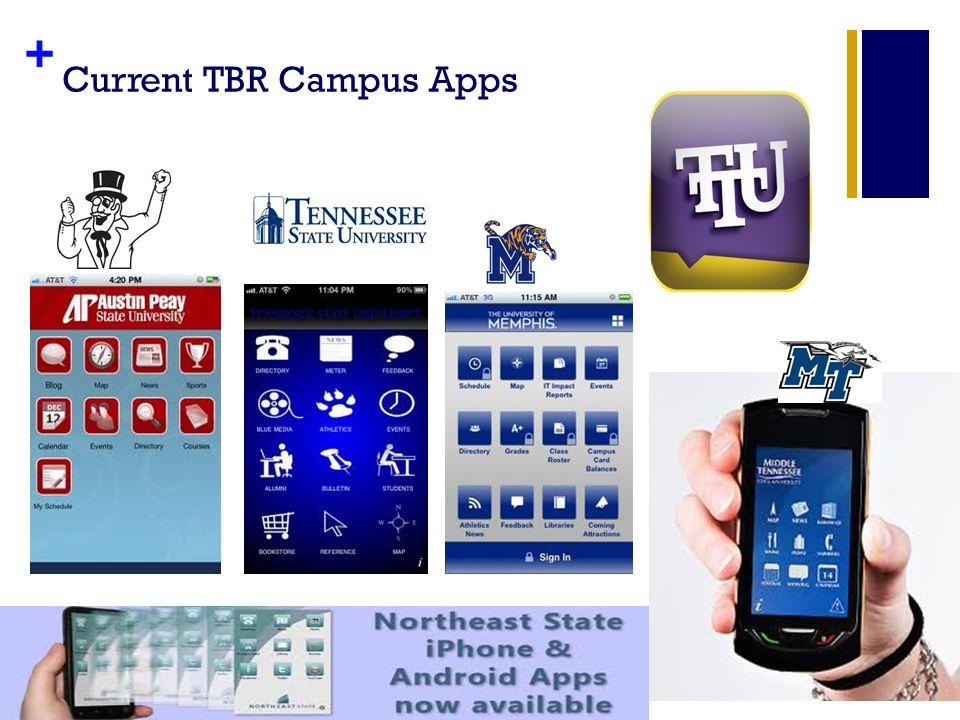+ Current TBR Campus Apps