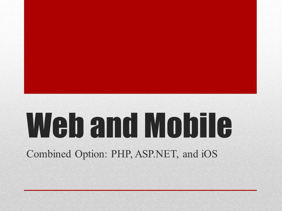 Why ASP.NET.