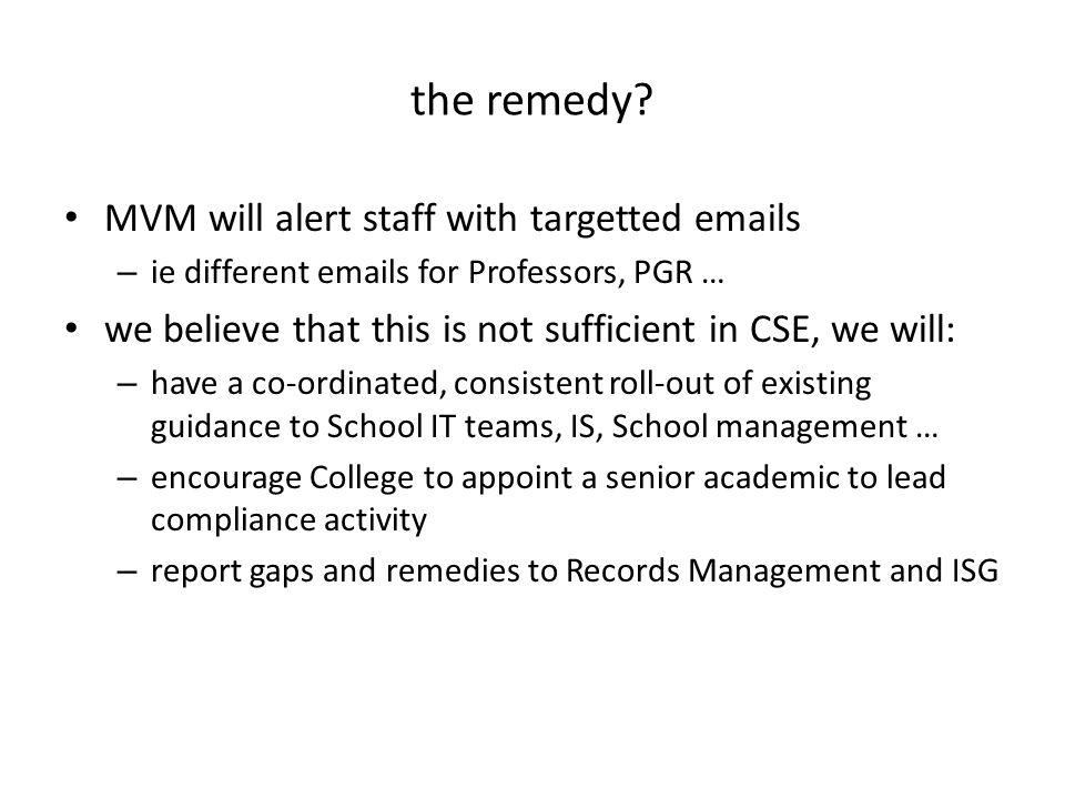 RMISG CCPAG Schoo l IT School IT College ISG Academic Staff Use Cases & Recommendations Monitor Specific Help General Help Schoo l IT School IT