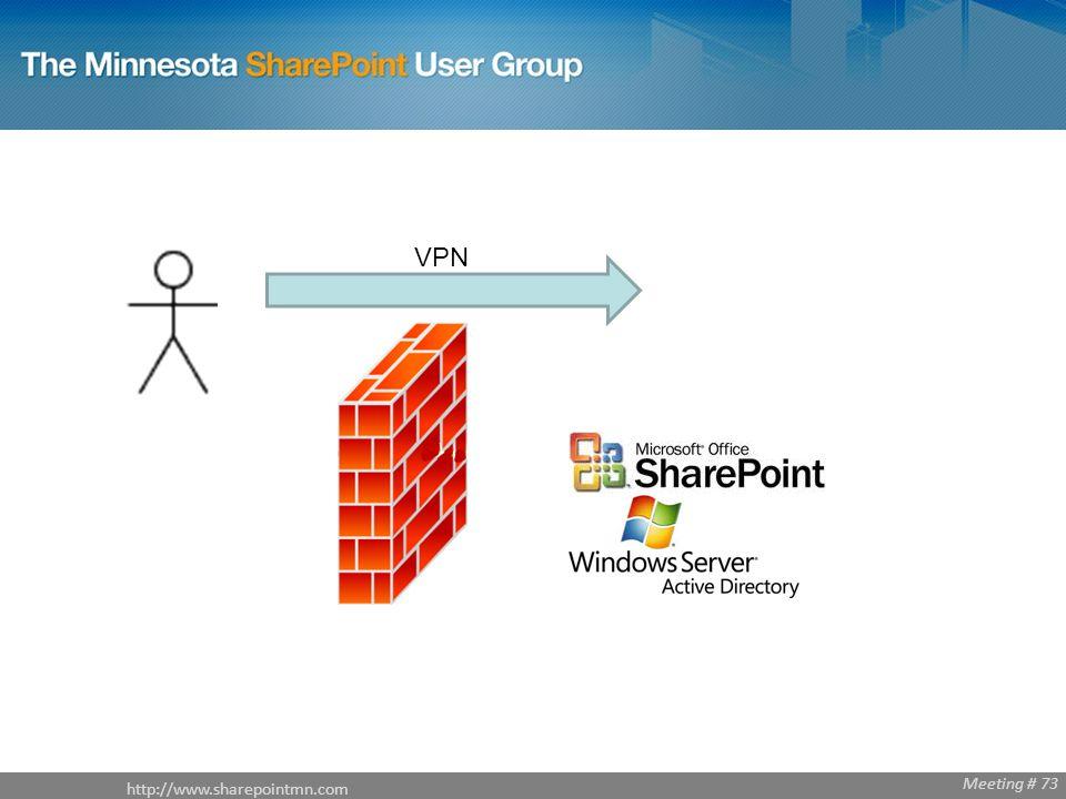 http://www.sharepointmn.com Meeting # 68 http://www.sharepointmn.com Meeting # 73 VPN