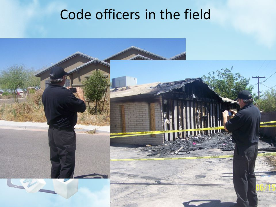 Code officers in the field