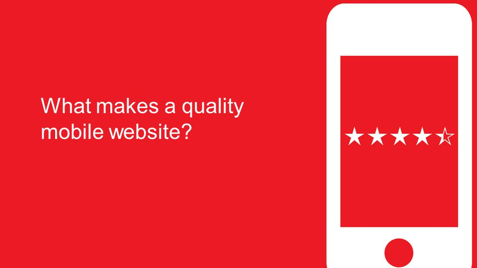 What makes a quality mobile website