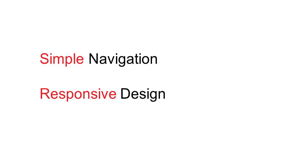 Simple Navigation Responsive Design