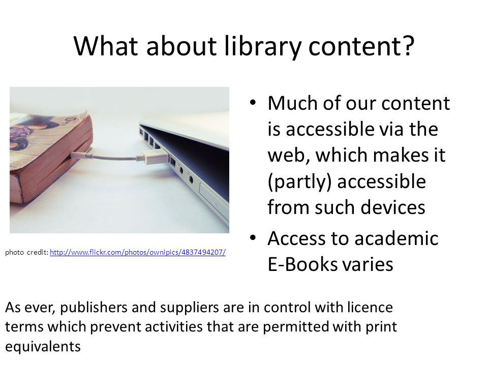 What about library content.