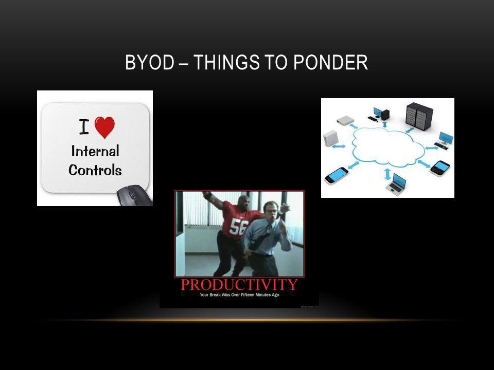 BYOD – THINGS TO PONDER