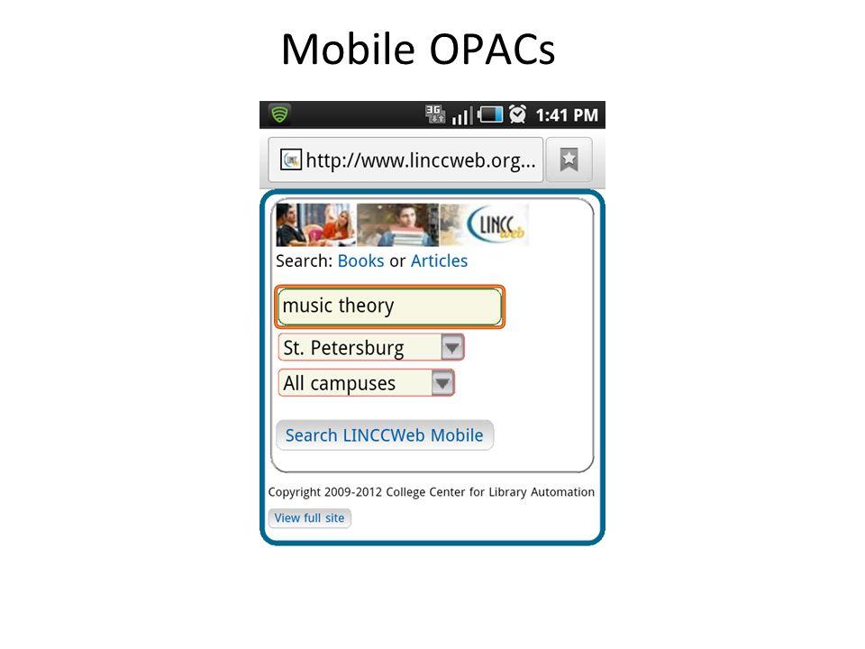 Mobile OPACs