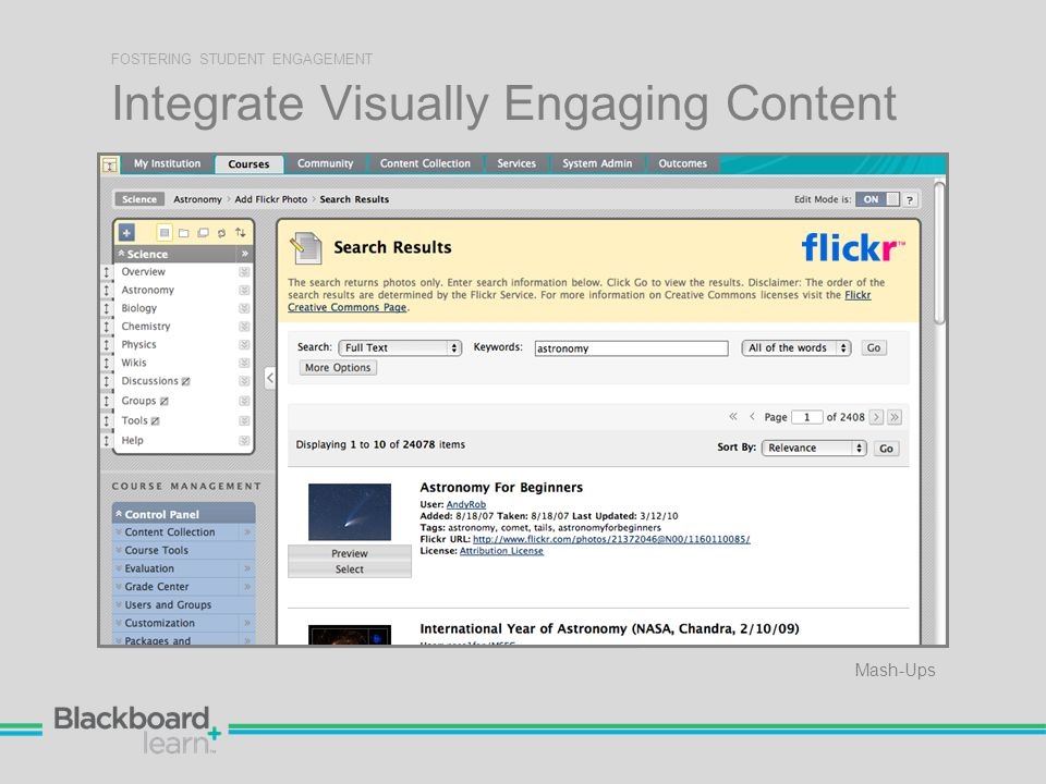 Integrate Visually Engaging Content FOSTERING STUDENT ENGAGEMENT Mash-Ups
