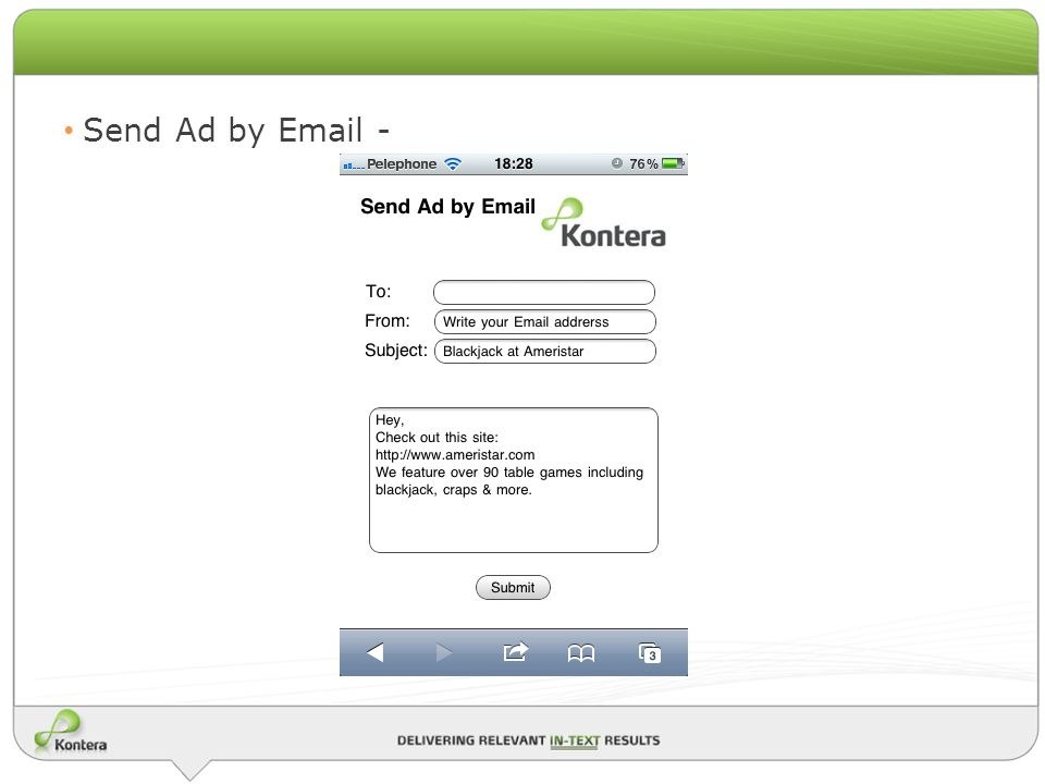 Send Ad by Email -