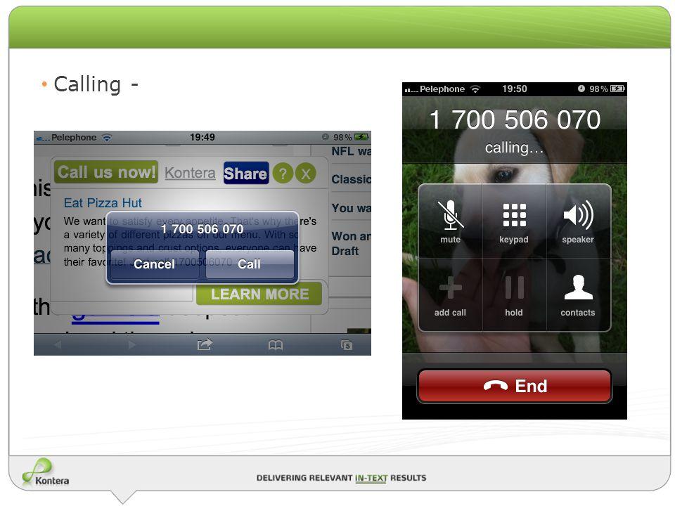 Calling -