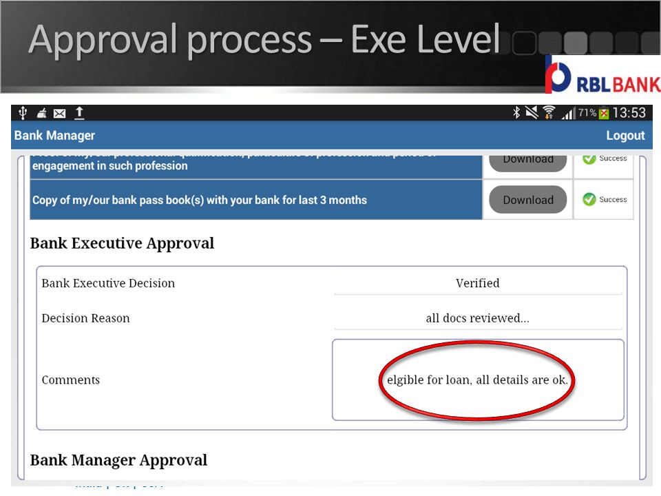 India | UK | USA Approval process – Exe Level