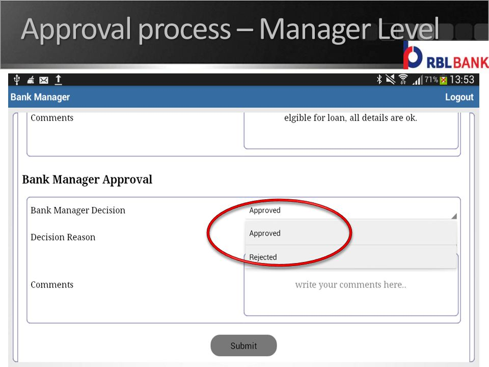 India | UK | USA Approval process – Manager Level
