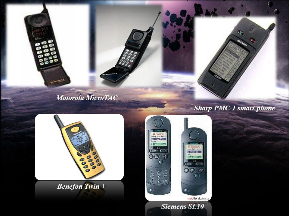 Motorola MicroTAC Sharp PMC-1 smart-phone Benefon Twin + Siemens SL10