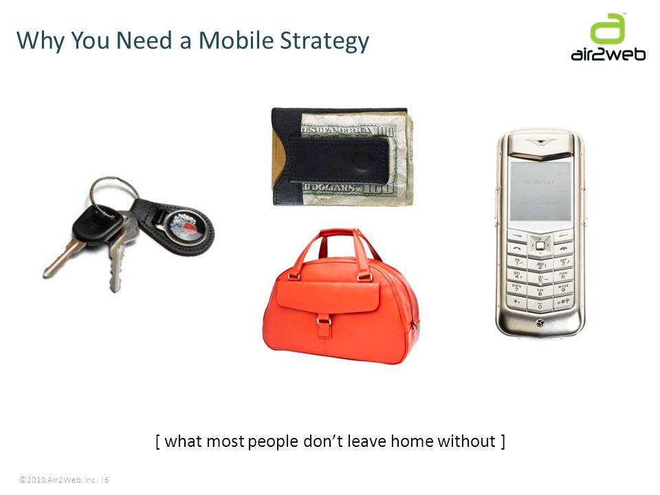 ©2010 Air2Web, Inc. |6 Why You Need a Mobile Strategy [ what most people dont leave home without ]