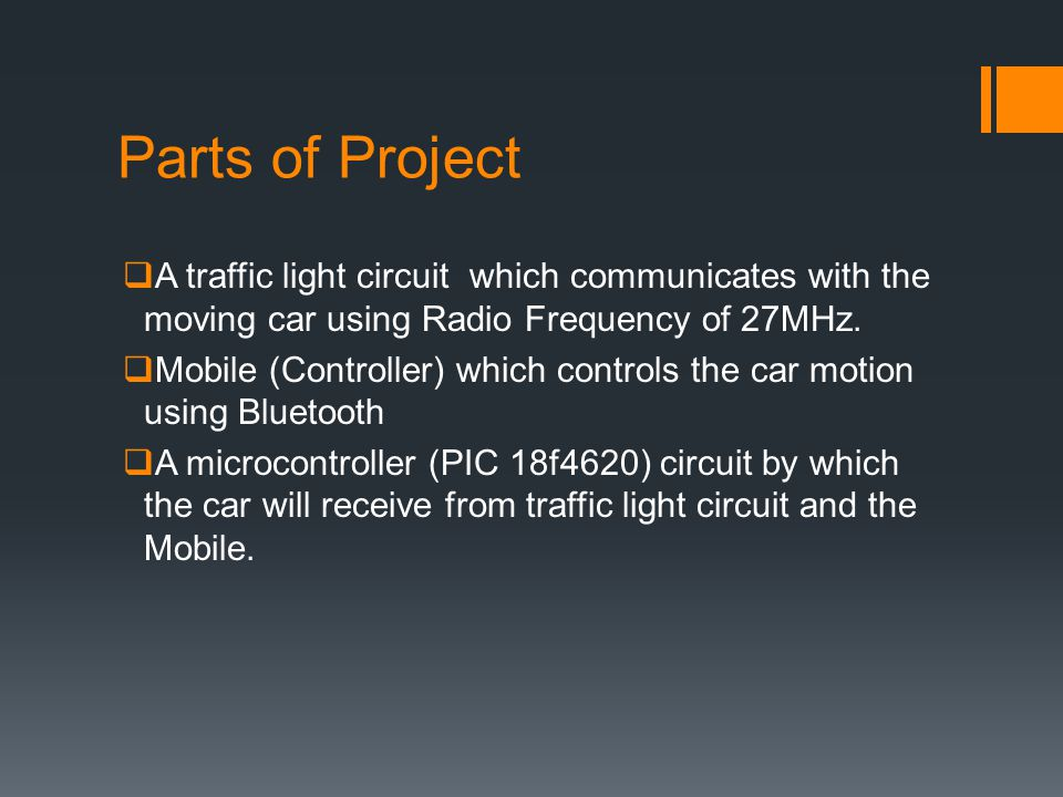 How can Car detect traffic .