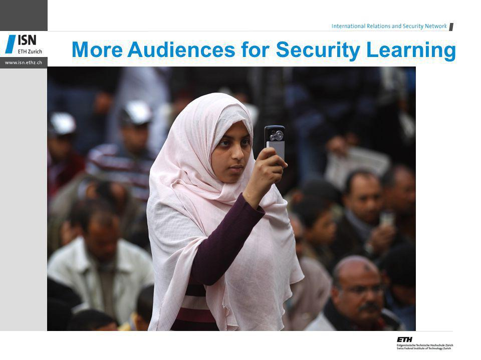 More Audiences for Security Learning