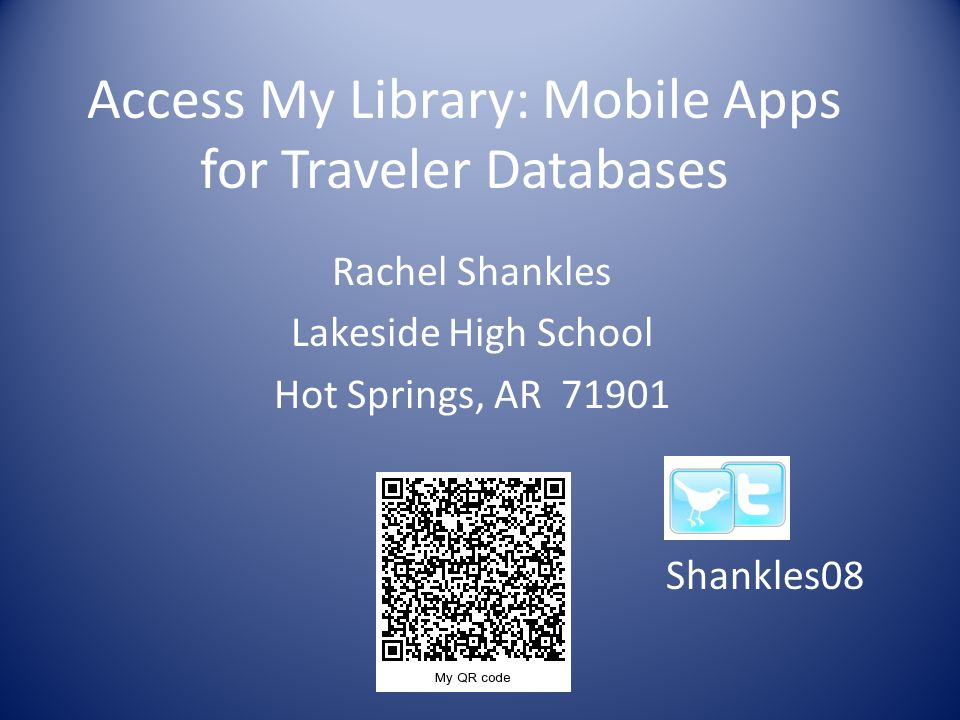 Mobile Apps Advantages Gives your students access to primary sources and good sources in our Traveler databases 24/7 access to our databases Great use of mobile devices in the classroom Alternative to computer lab when lab not available They can get info for Socratic discussions by accessing docs from these resources