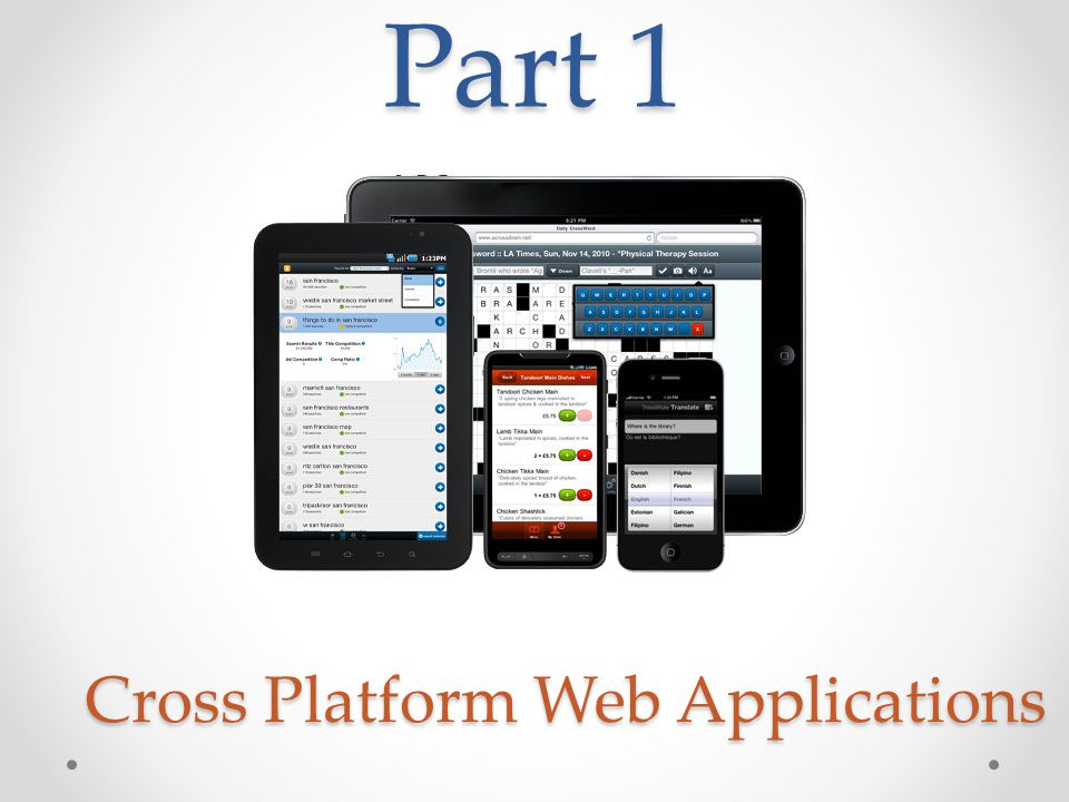 Part 1 Cross Platform Web Applications