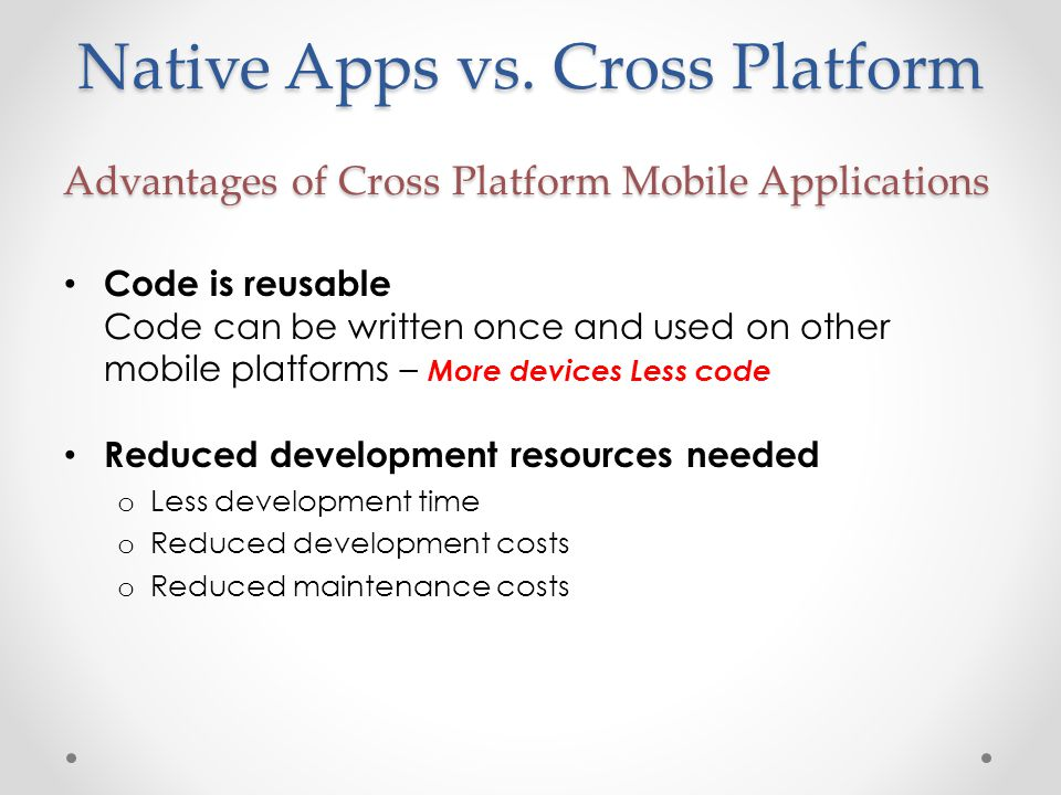 Native Apps vs.