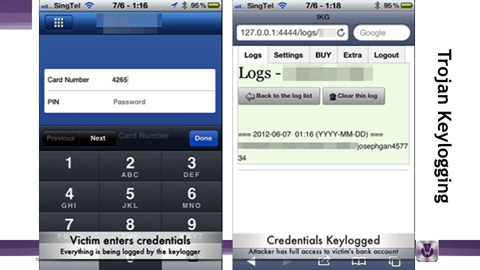 10 | © 2012 V-Key.com – Proprietary and Confidential Trojan Keylogging