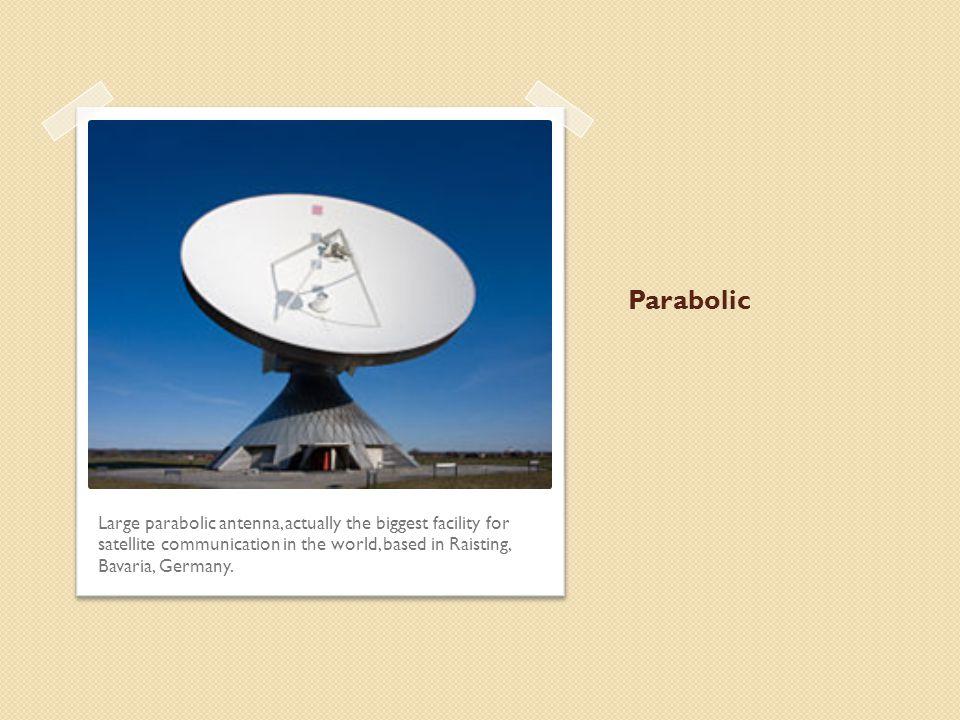 Parabolic Large parabolic antenna, actually the biggest facility for satellite communication in the world, based in Raisting, Bavaria, Germany.