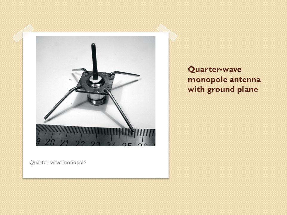 Quarter-wave monopole antenna with ground plane Quarter-wave monopole