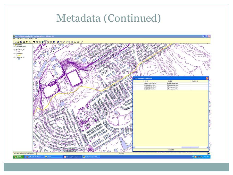 Metadata (Continued)