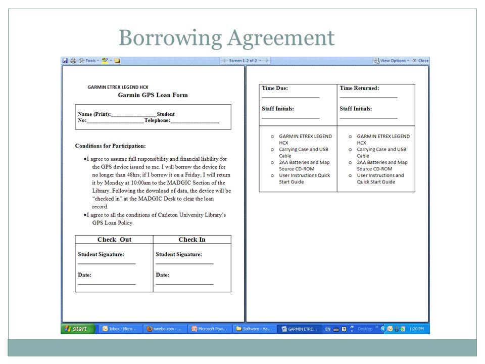 Borrowing Agreement