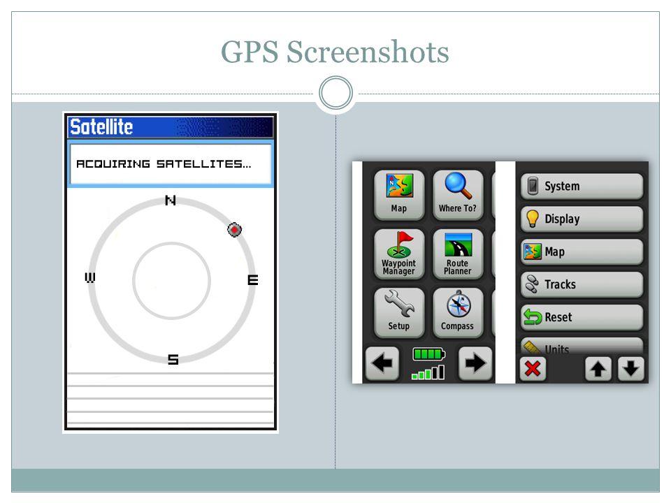 GPS Screenshots