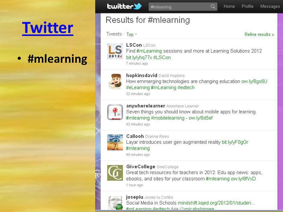 Twitter #mlearning