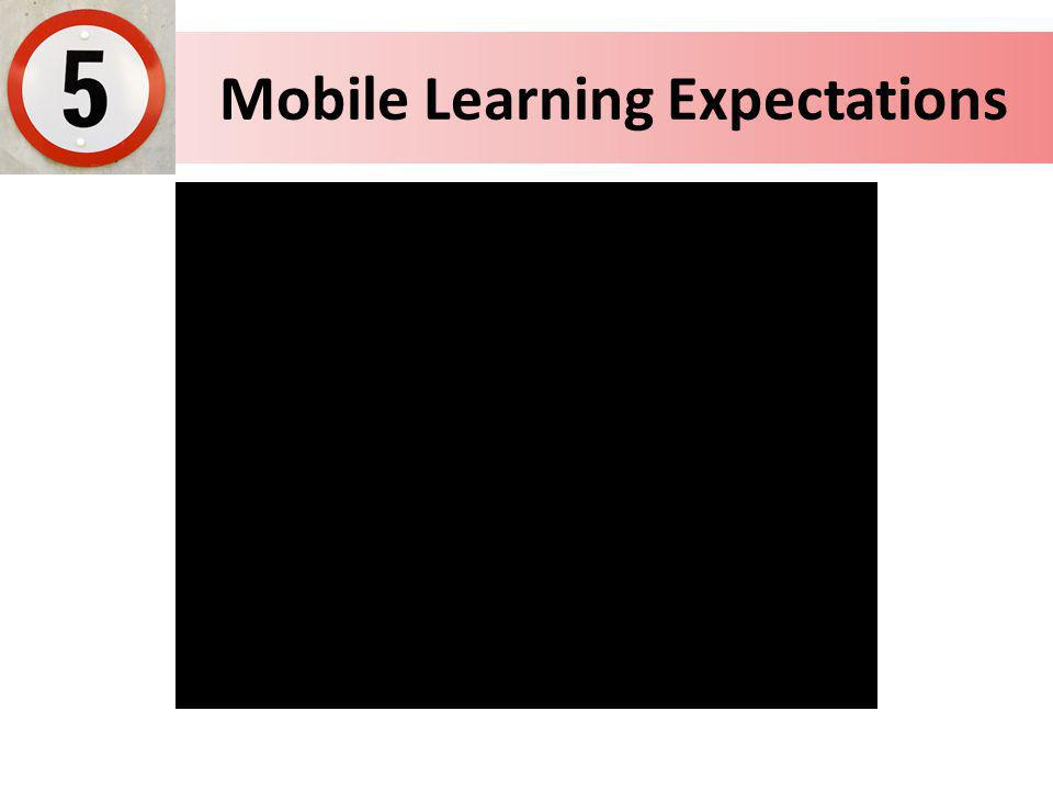 Mobile Learning Expectations
