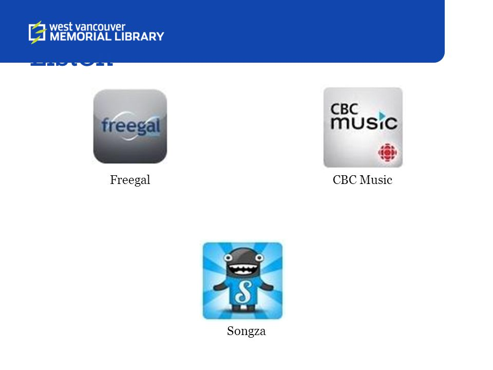 Listen FreegalCBC Music Songza