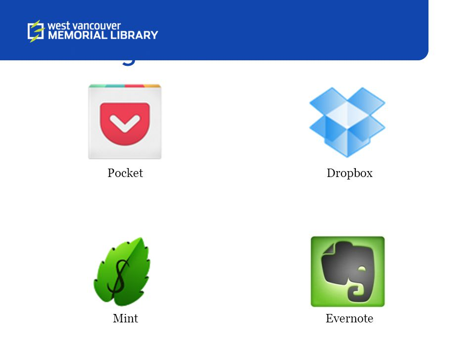Get Organized Pocket Mint Dropbox Evernote