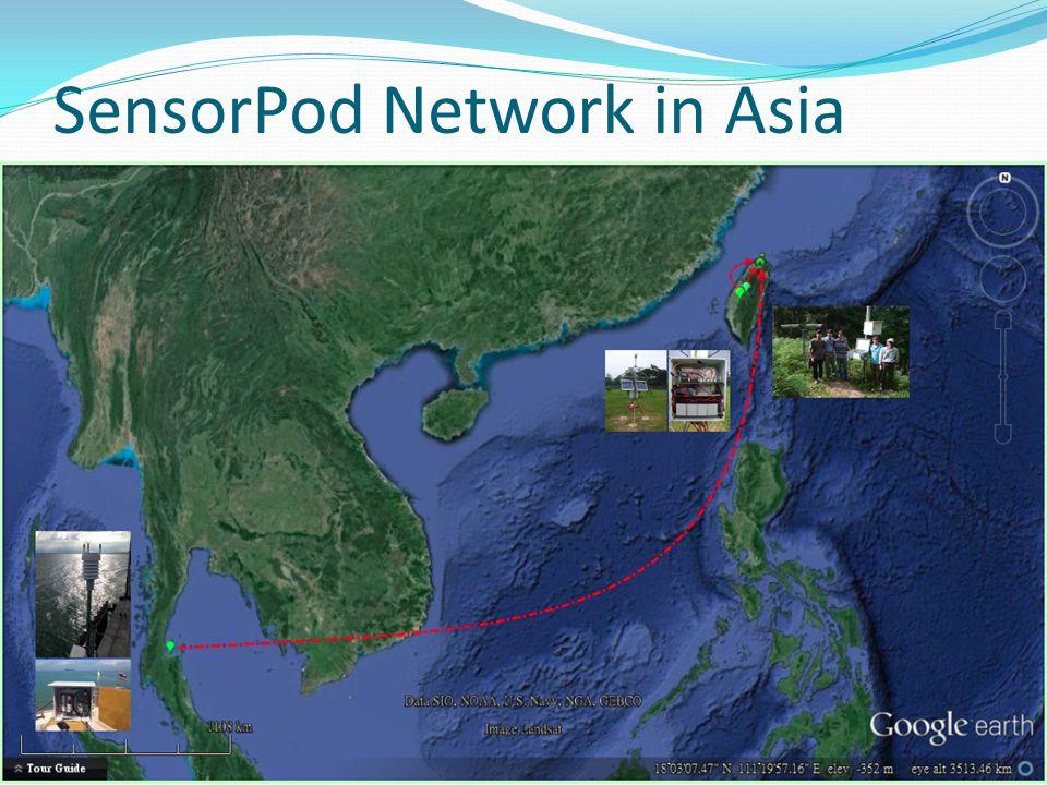 SensorPod Network in Asia