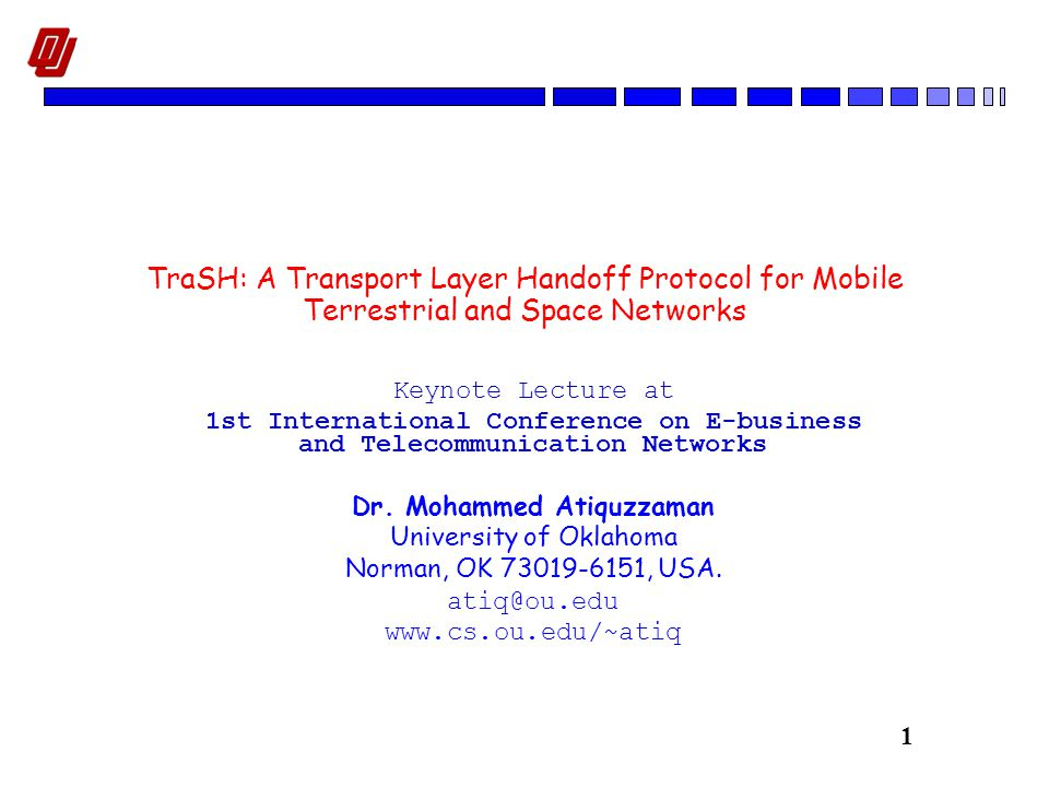 22 TraSH: Data Transfer Path